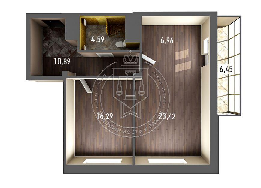 Продажа 2-к квартиры Бари Галеева ул, 8 а, корпус 3