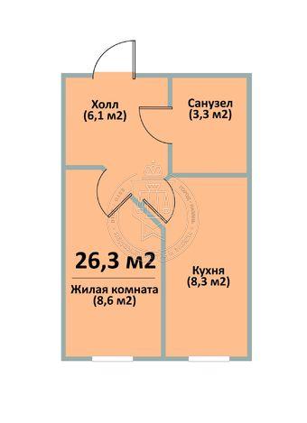 Продажа 1-к квартиры 12-й квартал, 13