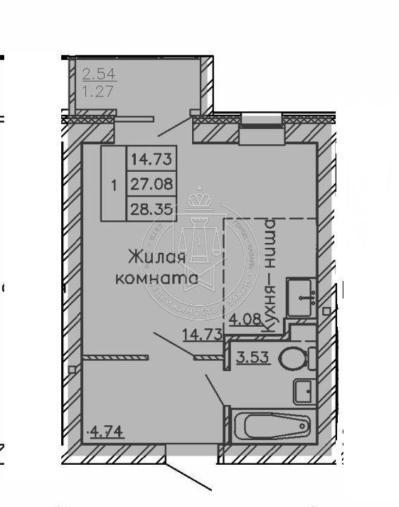 Продажа 1-к квартиры Лесная ул, 3.12