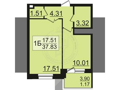 Продажа 1-к квартиры Залесная 2-я ул, 1.5