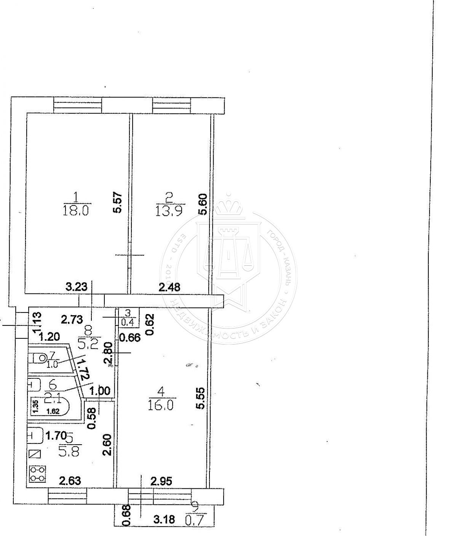 Комната 31 м² в 3-к, 2/5 эт., Зеленая, 11 (миниатюра №2)
