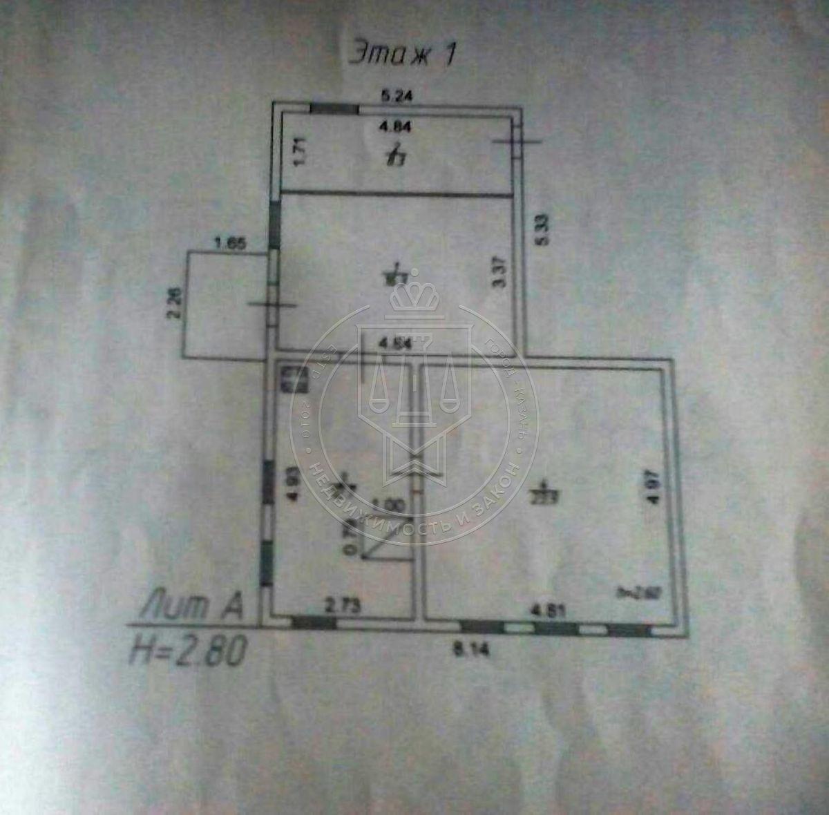 Продажа  дома п. Дубъязы, ул Ленина, Высокогорский район, 61.2 м² (миниатюра №5)