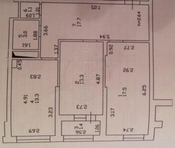 2-к квартира, 70 м², 15/ 25 эт.,Чистопольская, 61 а (миниатюра №3)