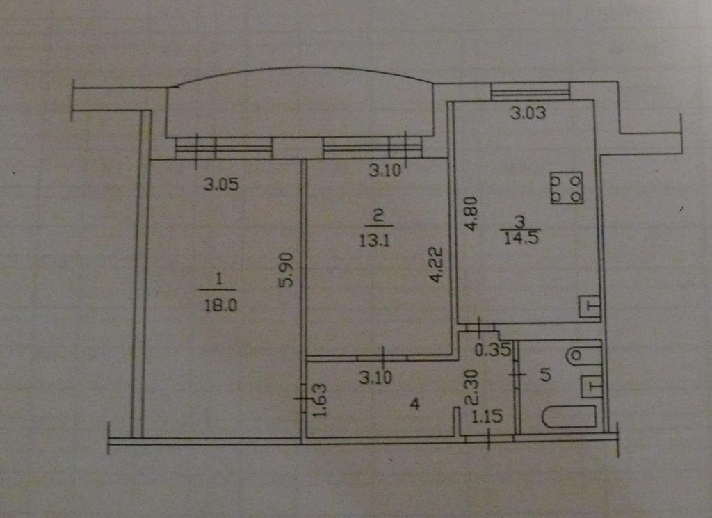 Продажа 2-к квартиры Фатыха Амирхана пр-кт, 91а, 70 м² (миниатюра №4)