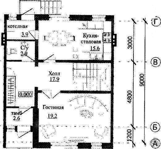 Танхаус 122 м² на участке 2.5 сот, п.Салмачи, ул. 2-я Центральная (миниатюра №4)