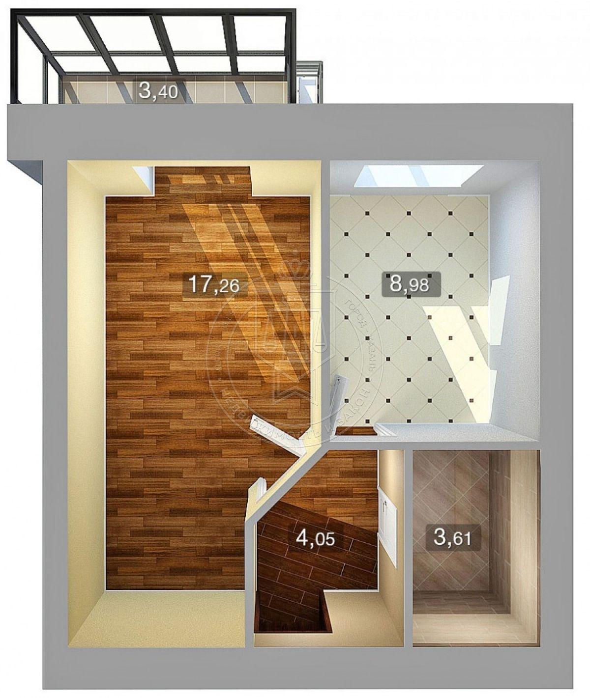 Продажа 1-к квартиры Николая Ершова ул, 62 В, 37.6 м² (миниатюра №2)