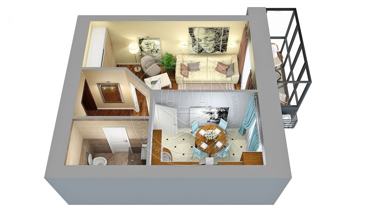 Продажа 1-к квартиры Николая Ершова ул, 62 В, 37.6 м² (миниатюра №3)