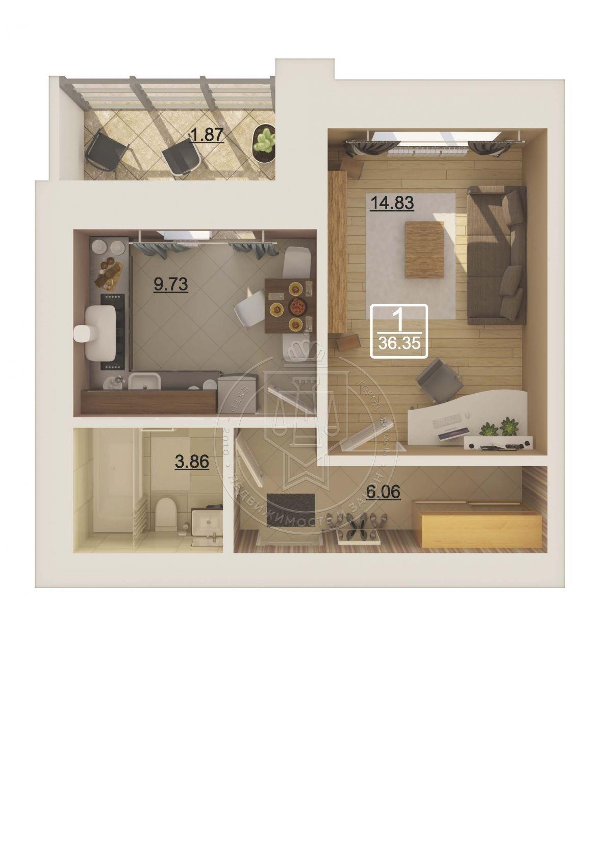 Продажа 1-к квартиры Рауиса Гареева ул, 90
