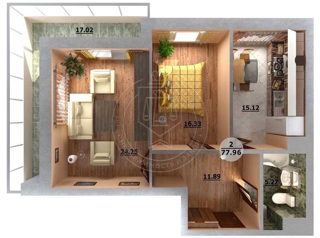 Продажа 2-к квартиры Альберта Камалеева пр-кт, 32