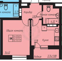 Продажа 1-к квартиры Аделя Кутуя ул, стр. 6.31