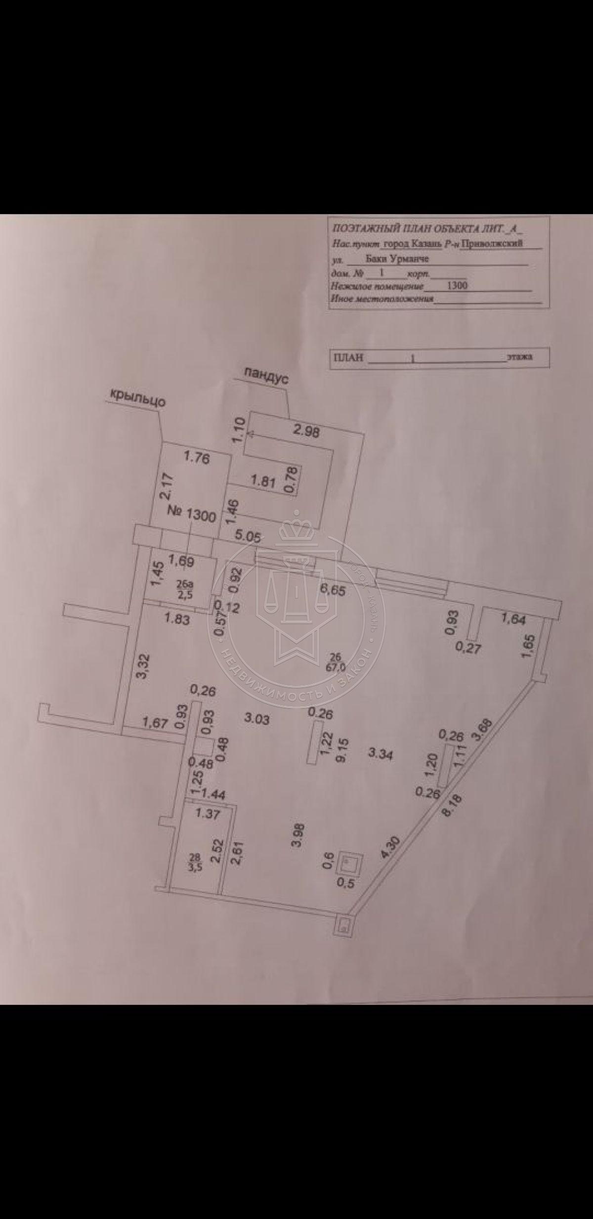 Аренда  офисы Баки Урманче ул, 1