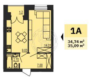 Продажа 1-к квартиры Сосновая ул, 1